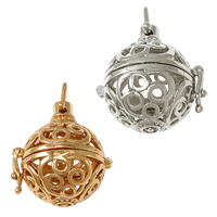 Pregnant Ball Locket Pendant, Brass, plated, high quality plating and never fade & hollow, more colors for choice, nickel, lead & cadmium free, 27x29x22.50mm, Hole:Approx 6x5.5mm, Inner Diameter:Approx 18mm, 30PCs/Lot, Sold By Lot