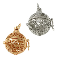 Pregnant Ball Locket Pendant, Brass, plated, high quality plating and never fade & hollow, more colors for choice, nickel, lead & cadmium free, 27x29.50x23mm, Hole:Approx 6x5mm, Inner Diameter:Approx 18mm, 30PCs/Lot, Sold By Lot