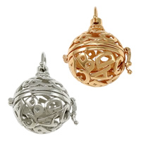 Pregnant Ball Locket Pendant, Brass, plated, high quality plating and never fade & hollow, more colors for choice, nickel, lead & cadmium free, 28.50x30.50x24mm, Hole:Approx 7.5x7mm, Inner Diameter:Approx 20mm, 30PCs/Lot, Sold By Lot
