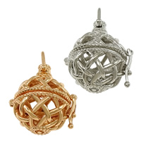Pregnant Ball Locket Pendant, Brass, plated, high quality plating and never fade & hollow, more colors for choice, nickel, lead & cadmium free, 24x27x20.50mm, Hole:Approx 5x5mm, Inner Diameter:Approx 16mm, 30PCs/Lot, Sold By Lot