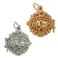 Pregnant Ball Locket Pendant, Brass, plated, high quality plating and never fade & hollow, more colors for choice, nickel, lead & cadmium free, 25x29x21mm, Hole:Approx 5.5x6.5mm, Inner Diameter:Approx 17mm, 30PCs/Lot, Sold By Lot