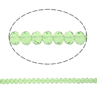 Rondelle Crystal Beads, imitation CRYSTALLIZED™ element crystal, Peridot, 8x10mm, Hole:Approx 1.5mm, Length:23 Inch, 10Strands/Bag, Sold By Bag