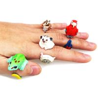 Hars Manchet Finger Ring, dierlijk ontwerp & verschillende stijlen voor de keuze, 27x34x16mm-23x50x28mm, Maat:5-9, Verkocht door PC