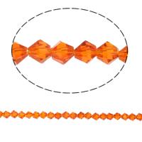Bicone Crystal Beads, Kristal, gefacetteerde, Siam, 5x5mm, Gat:Ca 0.5mm, Lengte:11.5 inch, 10strengen/Bag, Verkocht door Bag