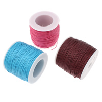 Wax Cord, Waxed Cotton Cord, with plastic spool, more colors for choice, 1mm, 100m/PC, Sold By PC