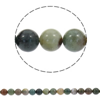 Natural Indian Agate Beads Round Hole:Approx 1mm Sold Per Approx 15 Inch Strand