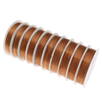 Copper Wire, electrophoresis, orange, nickel, lead & cadmium free, 0.4mm, Length:Approx 160 m, 10PCs/Bag, Sold By Bag