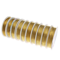Copper Wire, electrophoresis, orange, nickel, lead & cadmium free, 0.5mm, Length:Approx 90 m, 10PCs/Bag, Sold By Bag