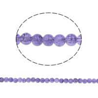 Crackle Glass Beads, Round, light purple, 6mm, Hole:Approx 1mm, Length:Approx 31.5 Inch, 10Strands/Bag, Sold By Bag