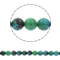 Chrysocolla Beads, Round, different size for choice, Hole:Approx 1mm, Sold Per Approx 15.5 Inch Strand