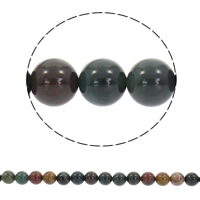 Natural Indian Agate Beads, Round, different size for choice, Hole:Approx 1mm, Sold Per Approx 15 Inch Strand