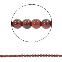 Natural Rhodonite Beads, Round, different size for choice, Hole:Approx 1mm, Sold Per Approx 15.5 Inch Strand