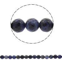 Natural Sodalite Beads, Round, different size for choice & faceted, Hole:Approx 1mm, Sold Per Approx 13.5 Inch Strand