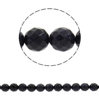 Natural Blue Goldstone Beads, Round, different size for choice & faceted, Hole:Approx 1mm, Sold Per Approx 14.5 Inch Strand