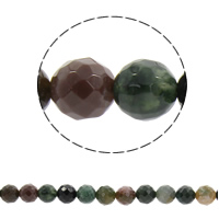 Natural Indian Agate Beads Round faceted Hole:Approx 1mm Sold Per Approx 14.5 Inch Strand