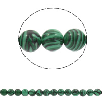 Malachite Beads Round Hole:Approx 1mm Sold Per Approx 15 Inch Strand