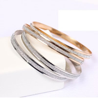 Zinc Alloy Bangle Donut plated stardust nickel lead   cadmium free 70x5mm Inner Diameter:Approx 68mm Length:Approx 7 Inch