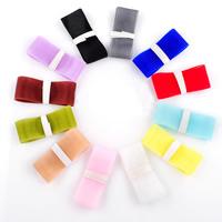 Wstążka Szyfonowa, Szyfon, mieszane kolory, 25mm, 100nici/torba, 1m/Strand, sprzedane przez torba