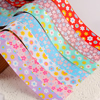 Grosgrain Ribbon with flower pattern 25mm 50Strands/Bag 1m/Strand