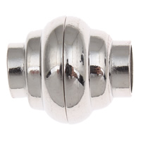 Brass Magnetic Clasp platinum color plated nickel lead   cadmium free 16x14mm Hole:Approx 6mm