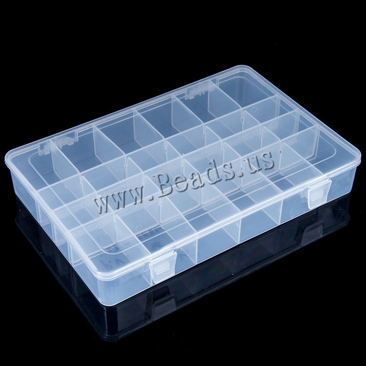 jewelry container plastic rectangle transparent