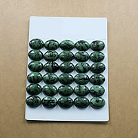 Ruby in Zoisite Cabochon, Flat Oval, natural, different size for choice & flat back, Sold By Lot