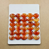Lace Agate Cabochon, Flat Oval, natural, different size for choice & flat back, red, Sold By Lot