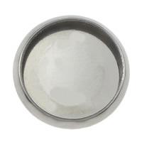 сеттинг для кабошона из нержавеющей, нержавеющая сталь, Плоская круглая форма, разный размер для выбора, оригинальный цвет, 1000ПК/Лот, продается Лот