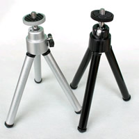 Aluminum Universal Mini Tripod, sand blast, retractable, more colors for choice, 240-450mm, 10PCs/Lot, Sold By Lot