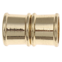 Brass Magnetic Clasp, Column, plated, more colors for choice, nickel, lead & cadmium free, 19x12mm, Hole:Approx 10mm, 10PCs/Bag, Sold By Bag