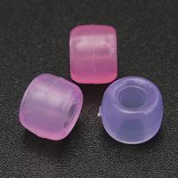 Бусины из пластика, пластик, Столбик, прозрачный, Много цветов для выбора, 6x8mm, отверстие:Приблизительно 5mm, 500ПК/сумка, продается сумка