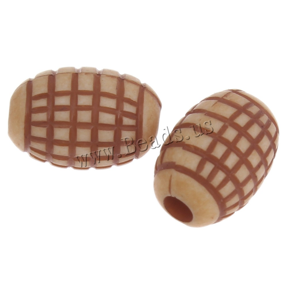 Buy Imitation Ox Bone Acrylic Beads Drum coffee color 11x7.5mm Hole:Approx 1mm 2Bags/Lot Approx 1260PCs/Bag Sold Lot