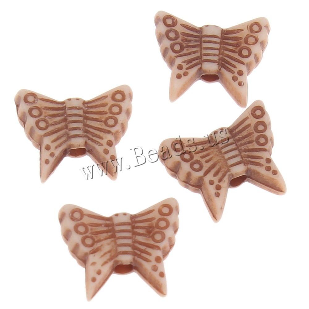 Buy Imitation Ox Bone Acrylic Beads Butterfly coffee color 10x8x3mm Hole:Approx 1mm 2Bags/Lot Approx 3650PCs/Bag Sold Lot