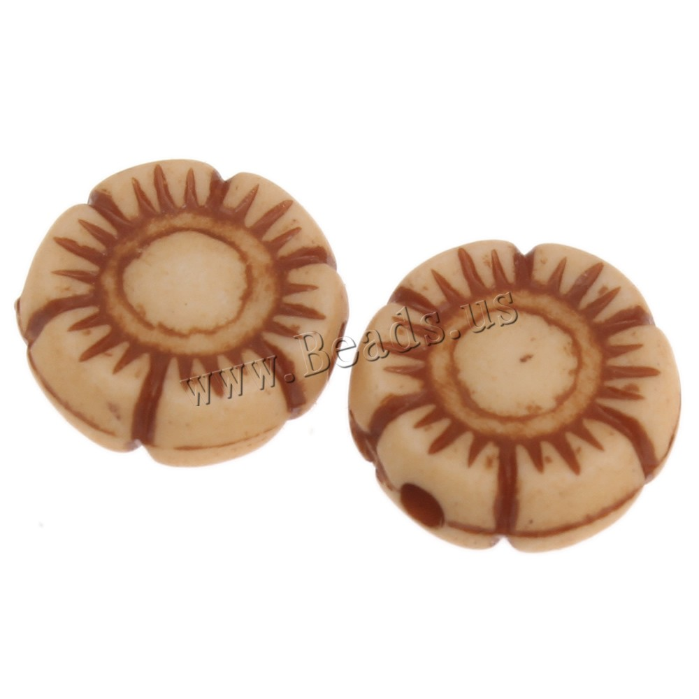 Buy Imitation Ox Bone Acrylic Beads Flower coffee color 10x4mm Hole:Approx 1mm 2Bags/Lot Approx 1773PCs/Bag Sold Lot