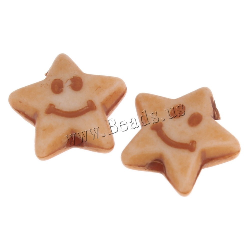Buy Imitation Ox Bone Acrylic Beads Star coffee color 9x4mm Hole:Approx 1mm 2Bags/Lot Approx 3560PCs/Bag Sold Lot
