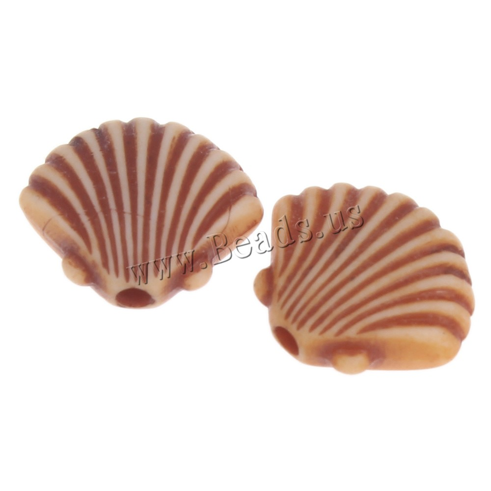 Buy Imitation Ox Bone Acrylic Beads Shell coffee color 12x10x4mm Hole:Approx 1mm 2Bags/Lot Approx 1585PCs/Bag Sold Lot