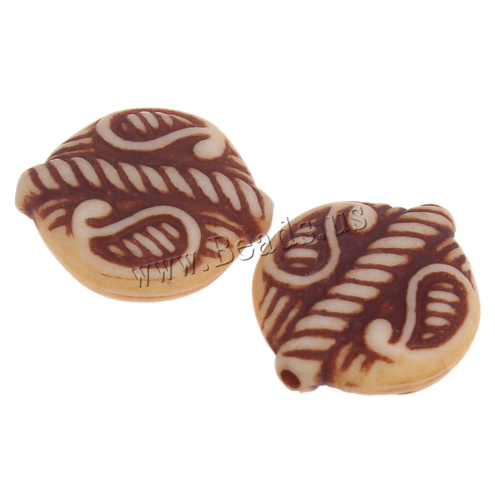 Buy Imitation Ox Bone Acrylic Beads coffee color 18x16x6mm Hole:Approx 1mm 2Bags/Lot Approx 505PCs/Bag Sold Lot