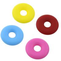 Силиконовые шарики, Силикон, Одобрение FDA, Много цветов для выбора, 32.50x32.50x7mm, отверстие:Приблизительно 10mm, 10ПК/Лот, продается Лот