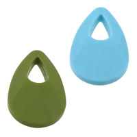 Silicone Pendant, Teardrop, FDA approval, more colors for choice, 30x48x12mm, Hole:Approx 10x19mm, 10PCs/Lot, Sold By Lot