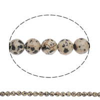 Natural Dalmatian Beads, Round, different size for choice, Hole:Approx 1mm, Length:Approx 15 Inch, Sold By Bag
