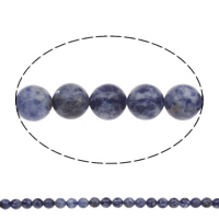 Natural Blue Spot Stone Beads, Round, different size for choice, Hole:Approx 1mm, Length:Approx 15 Inch, Sold By Bag
