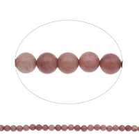 Natural Rhodonite Beads, Round, 10mm, Hole:Approx 1mm, Length:Approx 15 Inch, 2Strands/Bag, Approx 39PCs/Strand, Sold By Bag