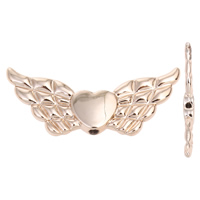 Zinc Alloy Jewelry Beads Wing Shape real gold plated lead   cadmium free 41x18x4mm Hole:Approx 1mm 20PCs/Bag