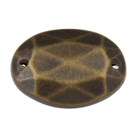 Acrylic Connectors, Flat Oval, antique bronze color plated, faceted & 1/1 loop, 18x13x3mm, Hole:Approx 1mm, 2Bags/Lot, Approx 135PCs/Bag, Sold By Lot