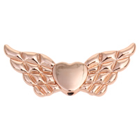 Zinc Alloy Jewelry Beads Wing Shape real rose gold plated lead   cadmium free 41x18x4mm Hole:Approx 1mm 10PCs/Bag