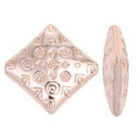 Zinc Alloy Jewelry Beads Rhombus real rose gold plated lead   cadmium free 23x6mm Hole:Approx 1mm 10PCs/Bag