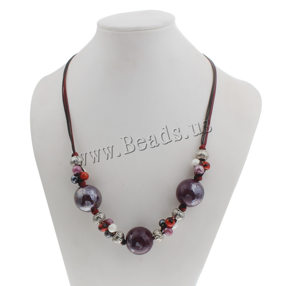 clearance fashion necklace porcelain with waxed linen cord