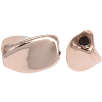 Zinc Alloy Jewelry Beads Twist real rose gold plated lead   cadmium free 9x6mm Hole:Approx 1mm 20PCs/Bag
