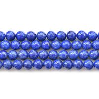 Koraliki Lapis Lazuli, Lapis lazuli naturalny, Koło, 4mm, otwór:około 1mm, około 95komputery/Strand, sprzedawane na około 15.5 cal Strand