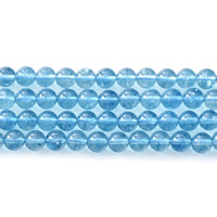 Crackle Quartz Beads, Round, different size for choice, light blue, Hole:Approx 1mm, Sold Per Approx 15.5 Inch Strand